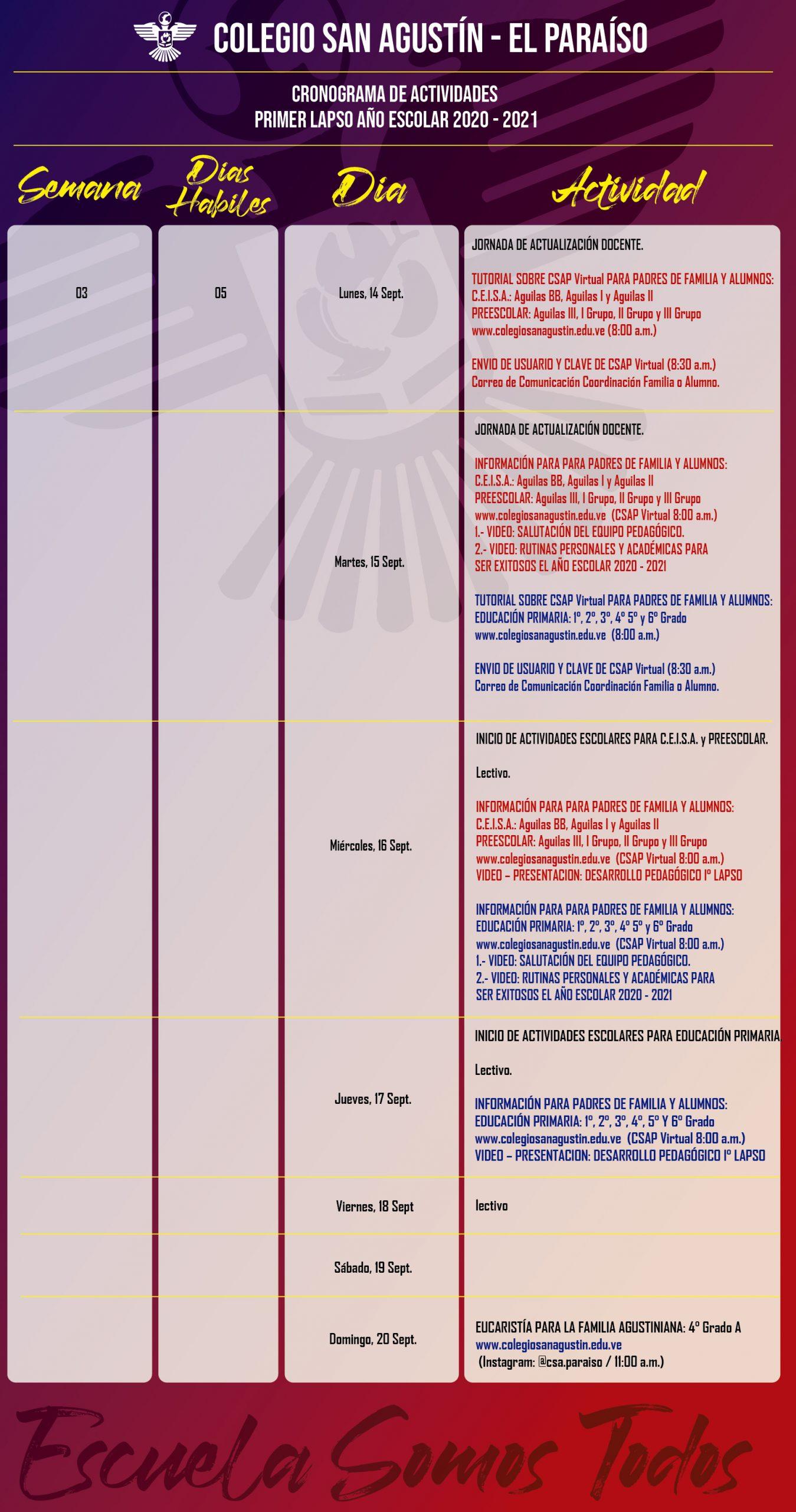 calendario Colegio San agustin x semana_Mesa de trabajo 1 copia